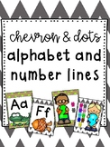 Chevron and Dots Alphabet and Number Line