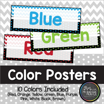 Chevron and Dots Color Poster Printables