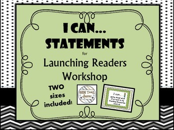 Readers Workshop - Launch with I Can Statements