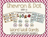 Chevron and Dots (camping theme) Editable Word Wall Cards