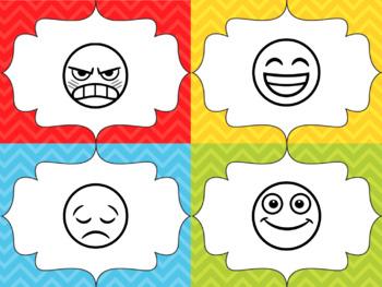 Chevron and Emoji Mood Charts