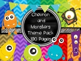 Chevron and Monsters Theme Pack (Over 190 pages)