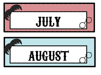 Chevron and Mustache Calendar Headers