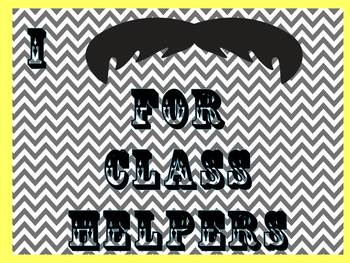 Chevron and Mustache Theme Class Jobs