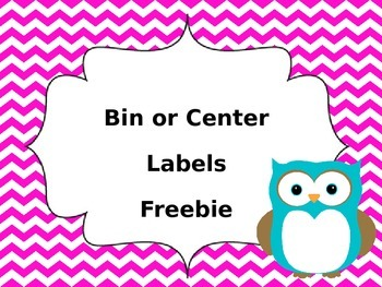 Chevron and Owl Bin and Center Labels