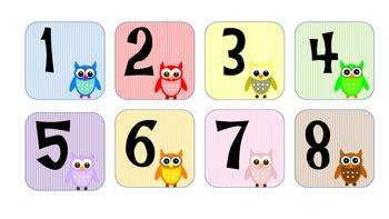 Chevron and Owl Calendar Pieces