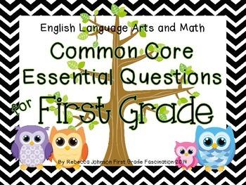 Chevron and Owl ELA and Math Common Core Essential Questio