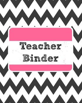 Chevron and Pastel Teacher Binder