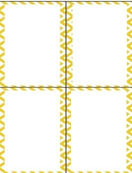 Chevron and Pineapple Name Tags & Labels {Editable}