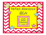 Chevron and Polka Dot Attendance Door Sign
