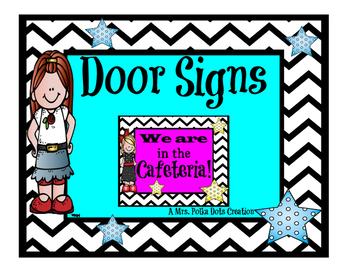 Chevron and Polka Dot Door Signs