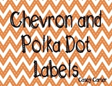 Chevron and Polka Dot Labels