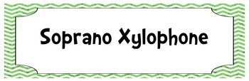Chevron and Polka Dot Orff Instrument Labels (Xylo, Glock, Metallophone)