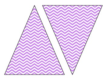 Chevron and Polka Dot Pennants