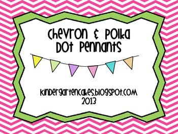 Chevron and Polka Dot Pennants