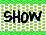 Chevron and Polka Dot Show What You Know Bulletin Board Set