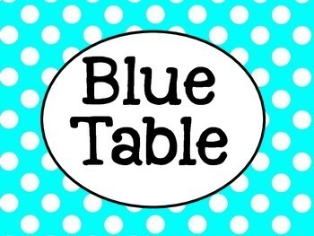Chevron and Polka Dot Table Signs