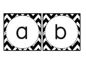 Chevron and Polka Dots BOGGLE Bulletin Board Letters