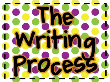 Chevron and Polka Dots Writing Process Posters/Clip Chart