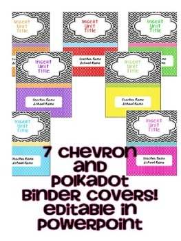 Chevron and Polkadot Binder Covers