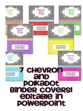 Chevron and Polkadot Binder Covers