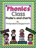 Chevron and Polkadot Phonics Class posters