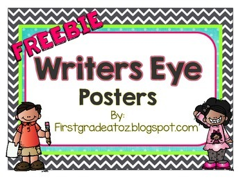 Chevron and Polkadots Writers Eye Freebie