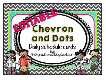 Chevron and Polkadots schedule (Editable)