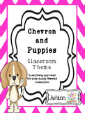 Chevron and Puppies Classroom Theme Bundle