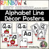 Chevron and Rainbow Alphabet Line