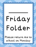 Chevron and Scallops Friday Folders {Editable}