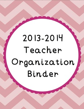 {Chevron and Scallops} 2014-2015 Organization Binder & Planner w/ Binder Covers