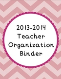 {Chevron and Scallops} 2014-2015 Organization Binder & Pla
