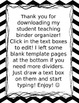 Chevron and owl Student Teaching Binder Organizer-Editable