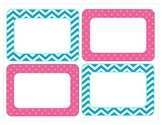 Chevron and polka dot classroom labels