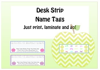 Apple Name Tag Desk Strips