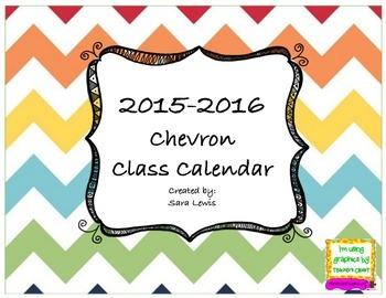 Chevron calendar 2015-2016