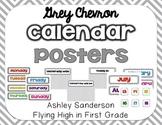 Chevron calendar decor