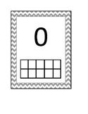 Chevron decorative ten frame cards  0-10