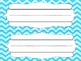 Chevron desk and cubby name tags