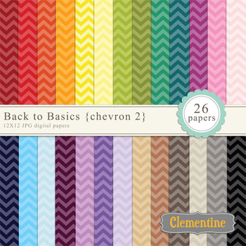 Tinted Chevron digital papers - rainbow papers