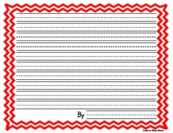 Chevron framed lined writing paper