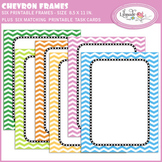 Chevron binder covers and matching task card set, editable