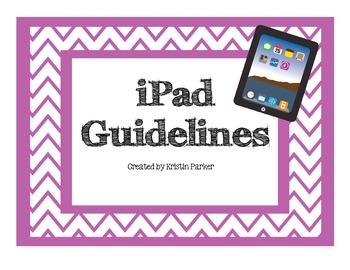 Chevron iPad Rules Posters