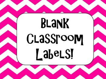 Chevron labels Classroom Labels