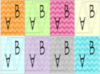 Chevron letters - Chevron pennants - Chevron word wall