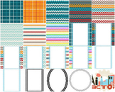 Chevron lines pages , borderpages and frames graphics collection