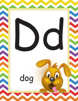 Chevron multicolored alphabet
