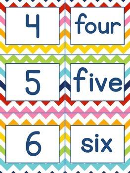 Chevron number pack PLUS flash cards