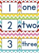 Chevron number pack PLUS flash cards